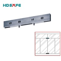 swing door design stainless steel glass panel patch fitting