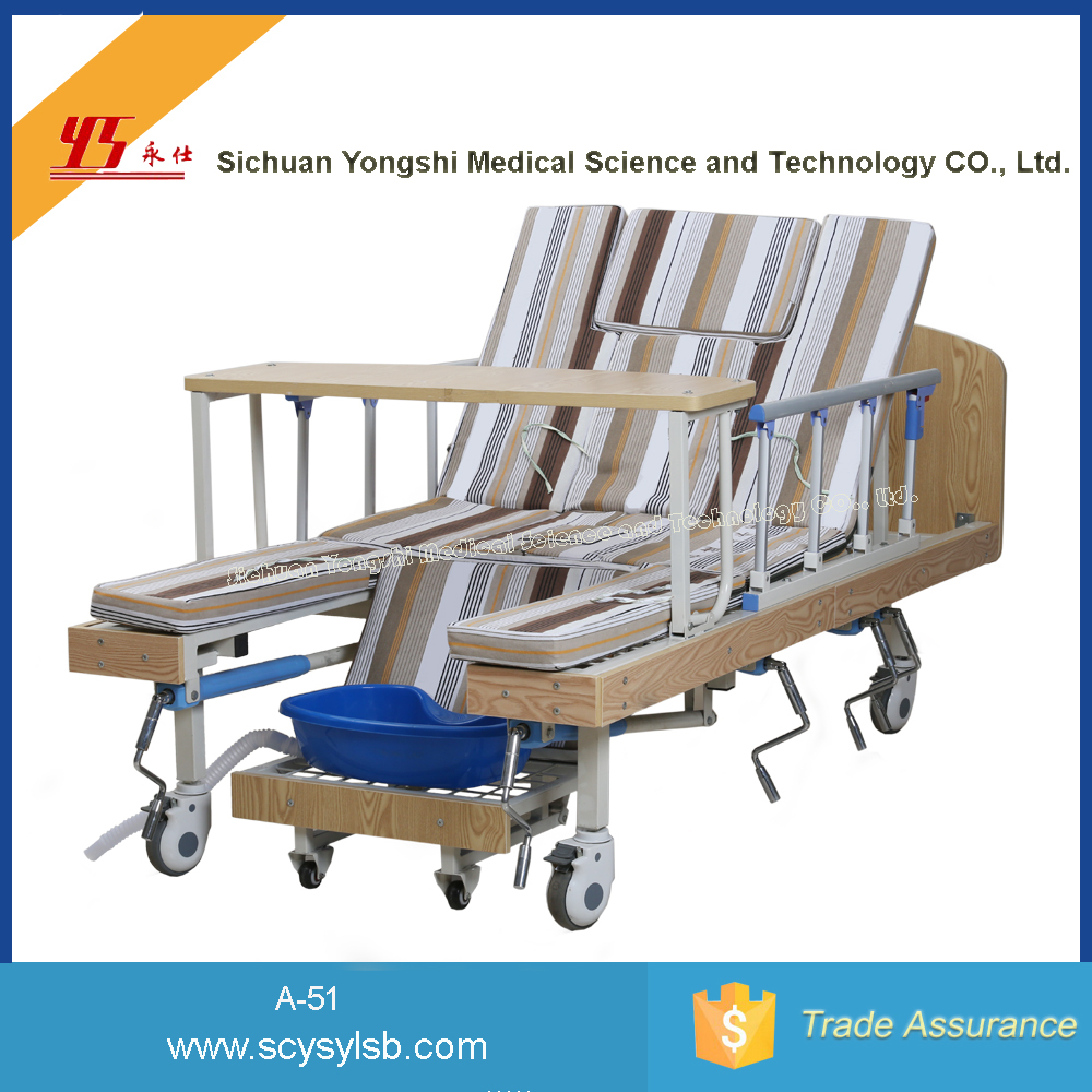 Multi-functional Folding Home care Nursing Disabled hospital Bed