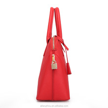 2016 Promotional good quality pure color ladies handbags wholesale