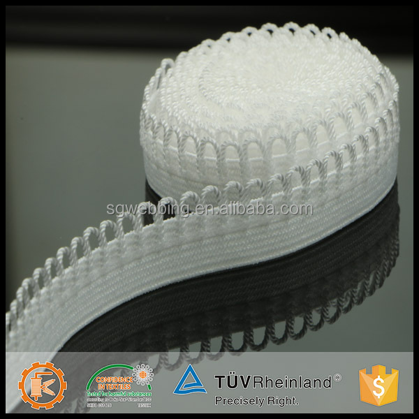 Superior material high tenacity garment crochet stylish knitted machine made elastic tape