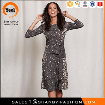 YEEL alibaba factory in china soft Anti-Static Full length sleeves african dresses