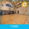 Solid plastic basketball flooring for indoor use