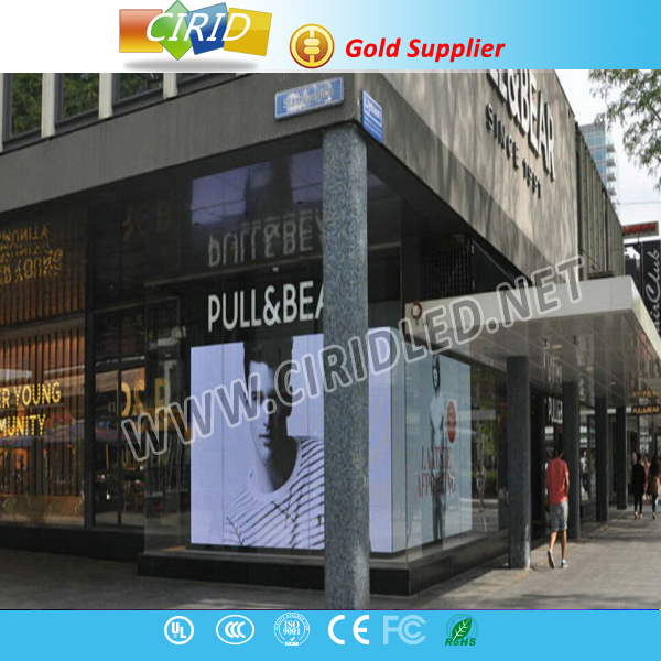 transparent LED media facade strip display / glass windows led display screen