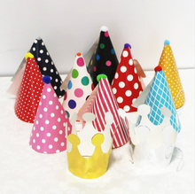 Mini Paper DIY Hat Cartoon Cap Princess Crown Birthday Party Kids Favor Festival Photography Baby Shower Decoration