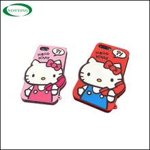 Alibaba top selling cartoon hello kitty silicone mobile phone case for iphone