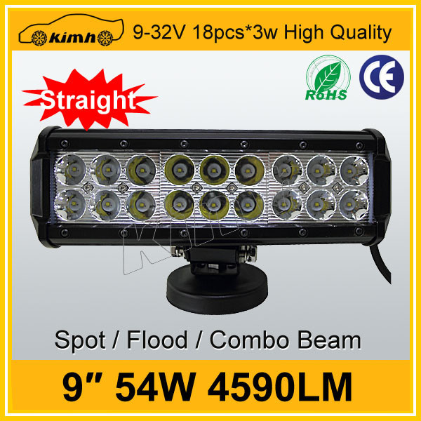 "High quality Brand led 9"" 4590LM 54w yellow led strip light bar"