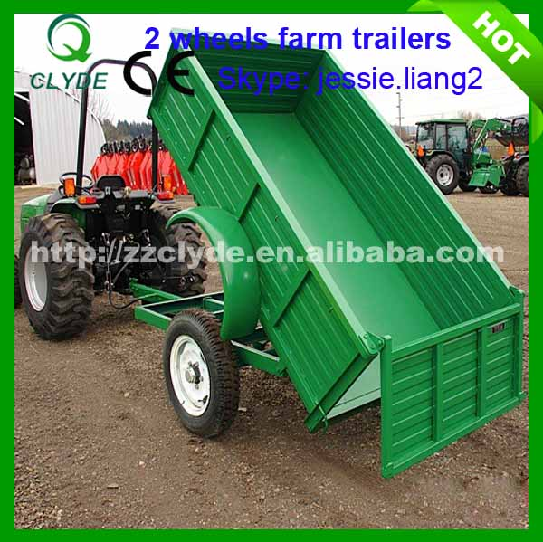 Types Of Tractor Trailers : Europe type ton farm tractor tipping trailer for sale