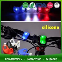 Super Bright Customize Waterproof led silicone bike light