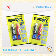 quick and strong aluminum tube adhesive 4 minute AB epoxy resin glue/ epoxy steel for household and industry