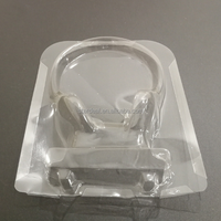 China supplier custom high quality pvc blister tray plastic case packaging tray for earphone