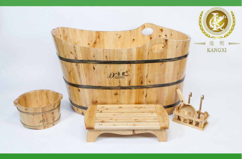 customized size handmade wooden soaking tubs complete bathroom sets