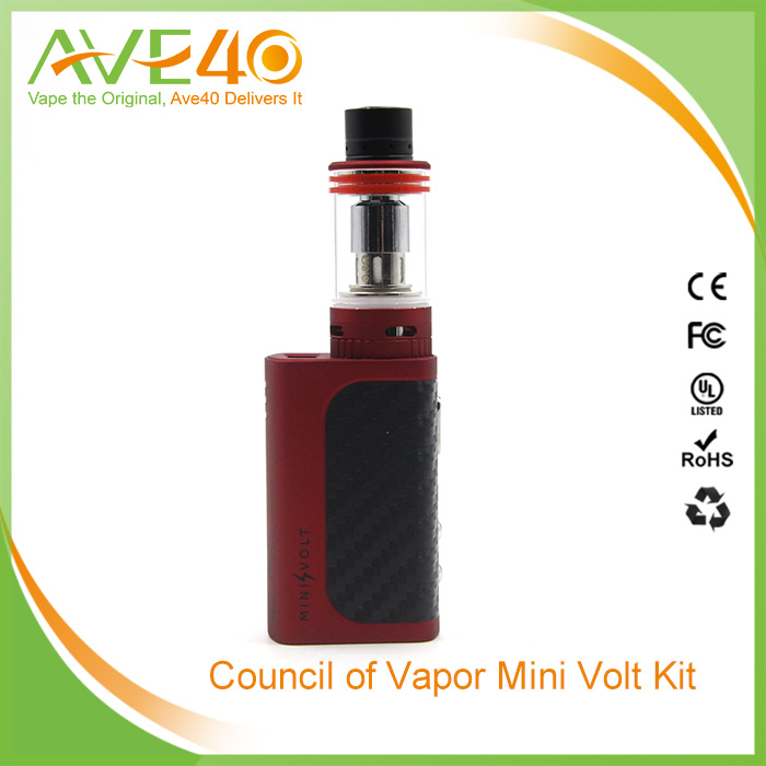 Hot selling Council Mini Volt Starter Kit, Starter Kit, mini volt 40w box mod