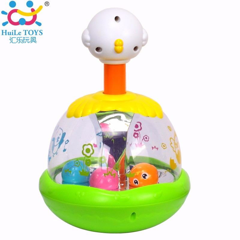 2017 Best selling Huile Toys Cartoon Chick Toy with Pressing Function