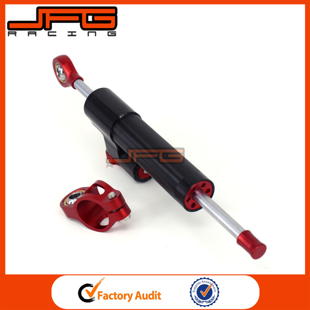 Universal Stabilizer Linear Reversed Safety Control CNC Motorcycle Steering Damper for Honda CB600 Dirt Bike Parts