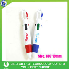 Multi Color Plastic Ball Pen With Hook For Promotion