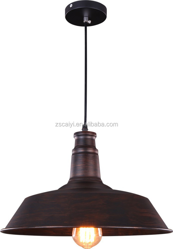 popular retro style rust color large vintage pendant lamp