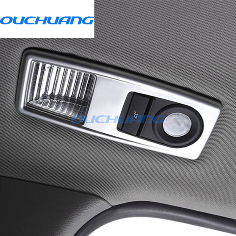For BMW X3 F25 X4 F26 2011-2017 X1 f48 2010- 2015 ABS Chrome Rear Reading Light Frame Cover Trim Stickers Car Styling Accessory
