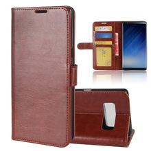 Flip Book Style PU leather Wallet Stand Cover Case for samsung galaxy note 8