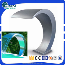 make stainless steel waterfall cascade pool