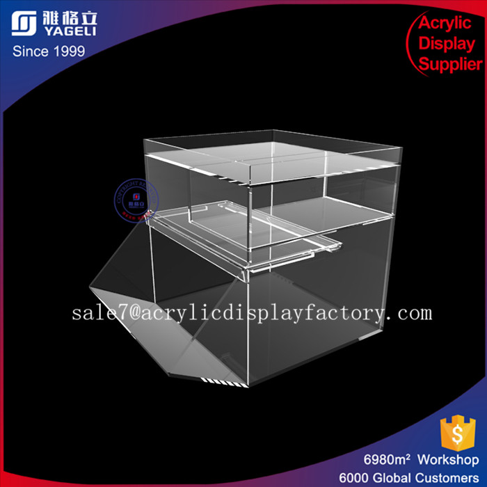 Fixture displays acrylic candy dry foods beans toys bins holder display box clear containers for candy buffet 2016