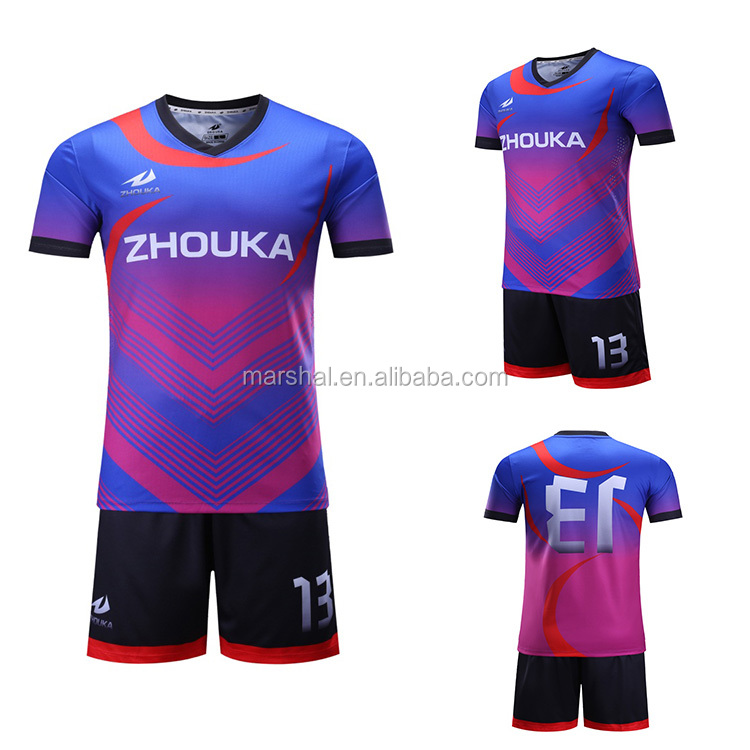 Wholesale sporting goods sublimated thai quality custom soccer jersey