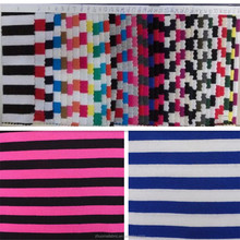 95% cotton 5% spandex Yarn dyed stripe cotton lycra fabric for T-shirt
