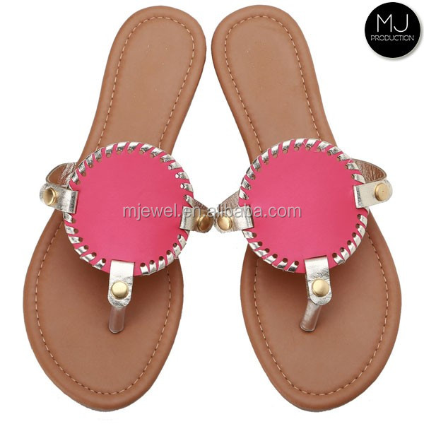 Stocked hot color lady sandal shoe