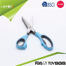 Multi-purpose Stainless Steel with rubber edge Kitchen scissors with bottle opener
