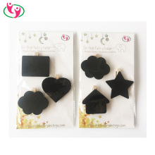 Hot selling Quality Mini Wood Message ChalkBoard Clip