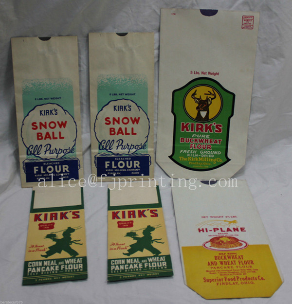Feed, Flour & Meal Bags, Block Bottom Multiwall Paper Bags
