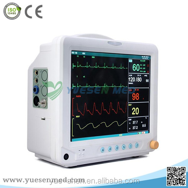 2016 hot sale low price hospital ICU cardiac monitoring equipment patient monitor manufacturers