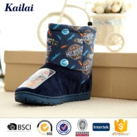 navy colorful pictures of kids soft boots for girls