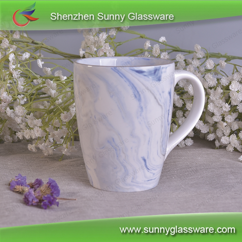 Colorful Big cheap marble ceramic soup mugs for promotional