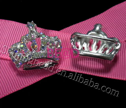 Wedding Decoration AB crystal rhinestone crown shaped silver plating diamante <strong>buckles</strong>