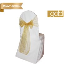 gold organza cheap chair covers sashes for sale with good service