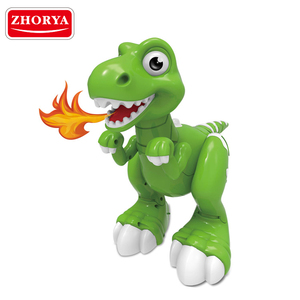 Zhorya intelligent rc robot toys follower remote control dinosaur toy with spray