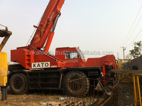 used Kato brand 50t rough terrain crane , good condition Kato rough terrain crane , Japan produced Kato rough terrain crane 50t