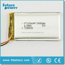 3.7V 2500mAh 103664 Lithium Polymer Battery Li ion Rechargeable Accumulator For Mobile Power Bank DIY E-book