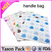 Yason solid loop handle bag pvc tube handle gift bag ldpe glue patch handle bag made in china