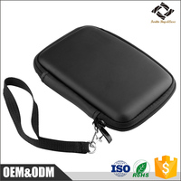 Good quality fast delivery cheap black 7'' inch waterproof PU cover EVA GPS case with zipper enclosure
