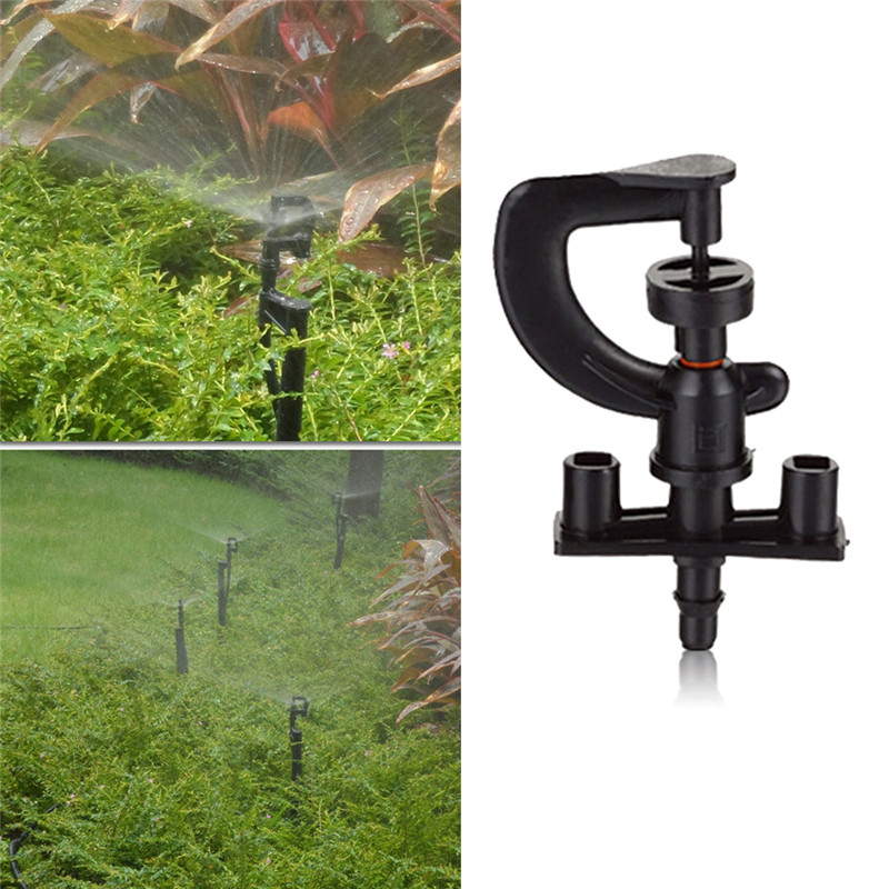 50pcs/lot Greenhouse G Microsprinkler With Barbed Connector Micro Wheel Middle Distance Sprinkler Micro Lawn Irrigation