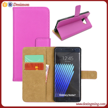 2017 Beautiful and functional magnetic with card slot phone cover case for samsuny s7
