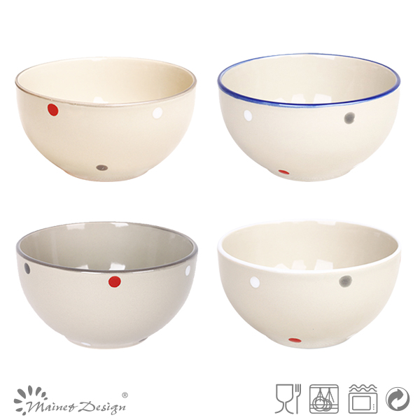 spot and color band set of bowl