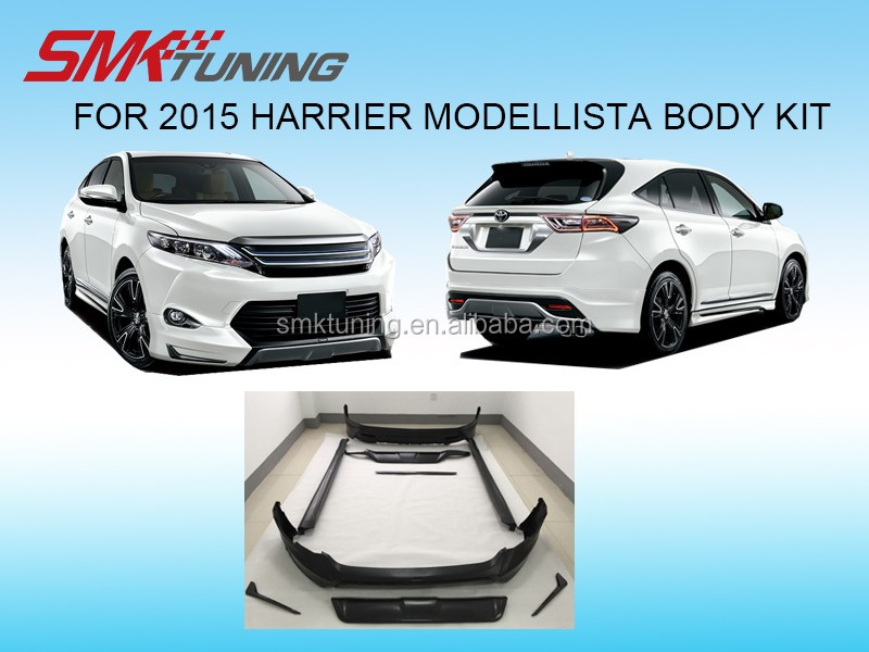 SMK MODELLISTA DESIGN 2015 TOYOTA HARRIER BODY KIT ,BUMPER KITFRONT BUMPER SPOILER,REAR BUMPER SPOILER,,SIDE BAR,EXHAUST PIPE