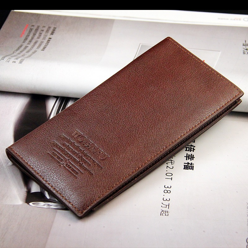 NEW Men Long Leather Wallet Pockets Card ID Holder Bifold Purse