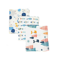 "100% Cotton 47""x47"" Super Soft Premium 100% Organic Cotton Blanket Baby With Cute Design For Boys And Girls"