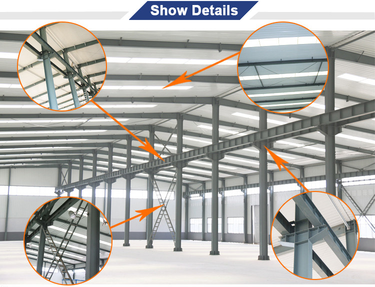 Pre-Made Prefabricated Building Modern Design Aircraft Steel Frame Hangar Building