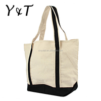 Promotional recycled foldable reusable cotton canvas bag