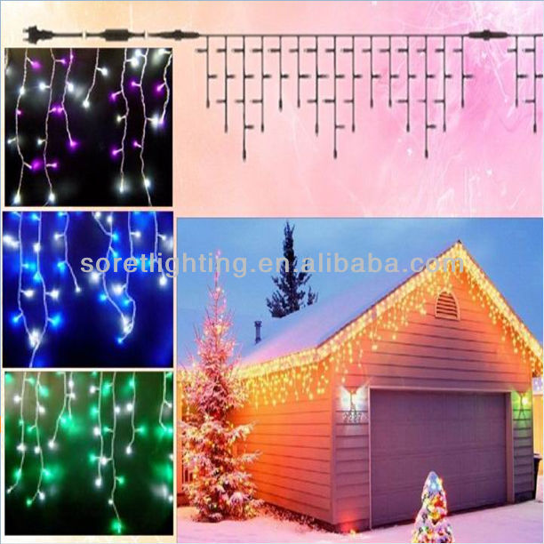 M5 led pure white lights christmas icicle Light