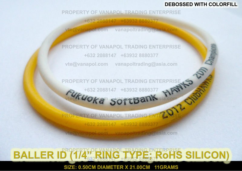 BALLER ID (1/4 INCH RING BAND; RoHS SILICON)